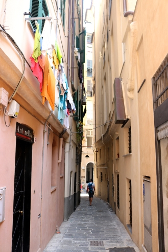 Narrow streets of Genoa
