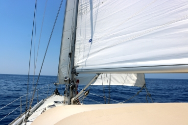We put on the light wind genoa, which we could have done a lot earlier!