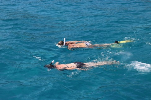 Snorkeling with moms