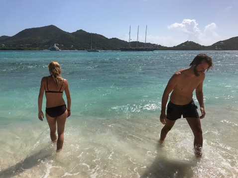 Sandy Island, our first dive in tropical waters