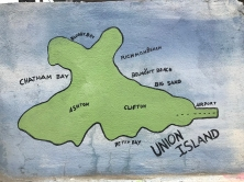 A mural of the island, note that a stroll from Clifton to the airport only takes like 5 mins..