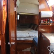 View from galley to aft cabin