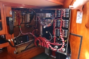 Wiring behind switchboard