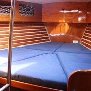 Forward cabin with storage