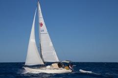 Scehawk under sail