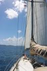Lazy sailing while sunburning the bum