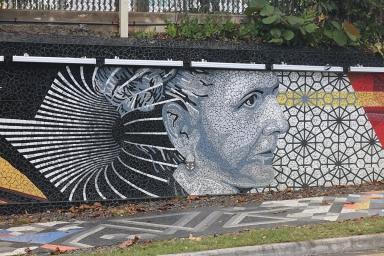 Street art: mosaic