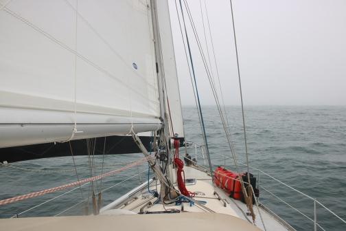 Sailing into the Atlantic Ocean again!